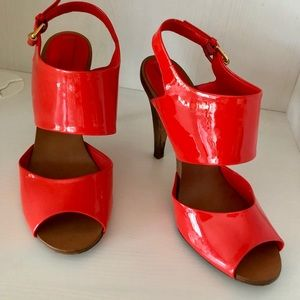 BCBG Orange Patent Leather Heels